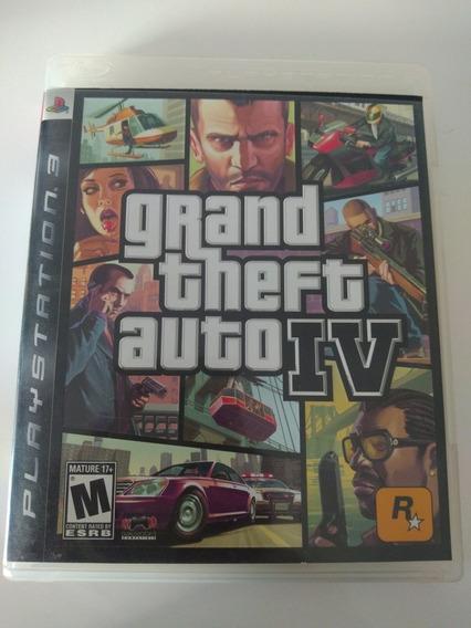Jogo Grand Theft Auto 4 Gta 4 Playstation 3 Com Mapa