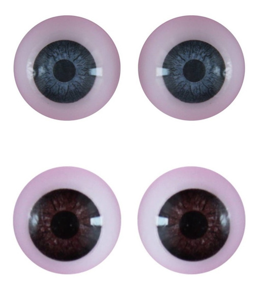 Ojos Redondos Nro 14 Reales Duendes Muñecos Muñecas X 10u