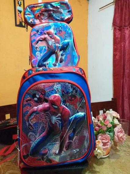 Mochila Spiderman Con Carro