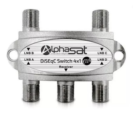 Switch Llave Diseqc Banda C/ku Antena Parabolica Satelital