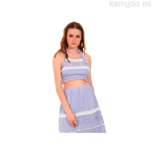 Top That´s It Azul Rayado Talla, Ech, M´y G