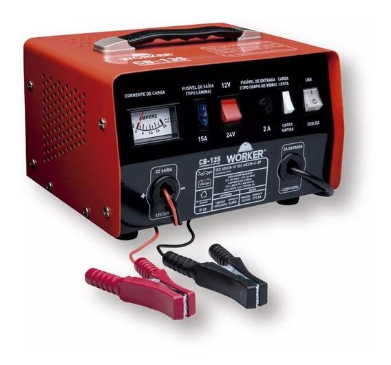 Carregador De Baterias Cb13s Worker 220v Vermelho
