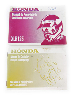 Antigo Manual Do Proprietário Da Moto Honda Xlr125 Ano 2000