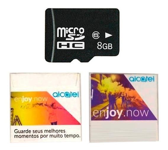 Cartão De Memória Alcatel Micro Sd 8gb Classe 6
