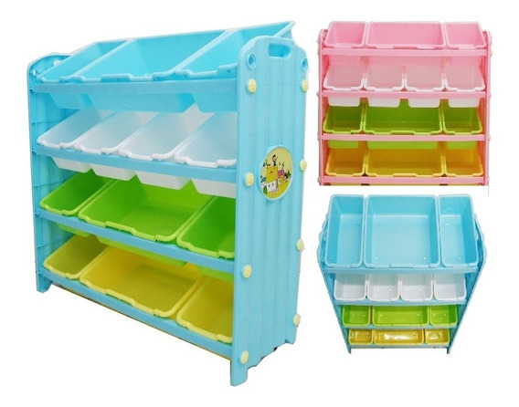 Estante Bau Organizador De Brinquedos Porta Treco Infantil C