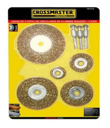 Juego 5 Cepillos Circulares Ejes Taladro Crossmaster 9980992