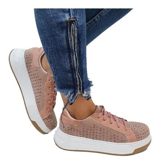 Zapatillas Plataforma Strass Zapatillas Mujer Cómodas Moda