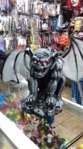 Decoracion Halloween Gargola Luz, Sonido/ Movim.envio Gratis