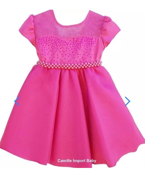 Vestido Marsha E O Urso Bebe Princesa Barbie Pink