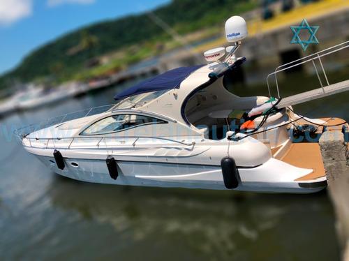 Lancha Cruiser 44 Barco Iate N Azimut Fishing Intermarine