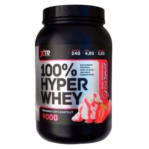 100% Hyper Whey 900g Morango Com Chantilly