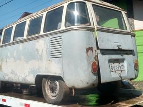 Kombi Luxo 1960 P/ Restauração Com Motor 1200 Cc