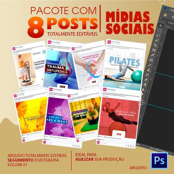 Post Para Redes Sociais Editável - Pilates - Vol. 01