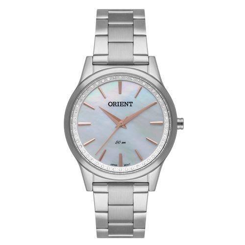 Relógio Orient Feminino Fbss0076 B1sx Prata Madre Pérola