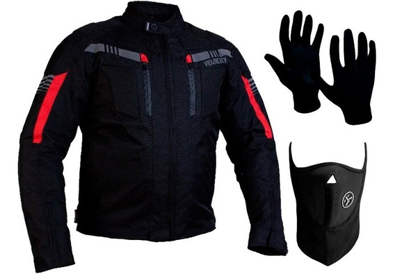 Campera Moto Velocity Nafe Cordura Protecciones + Regalo Sti