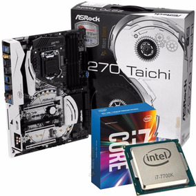 Placa Mãe Lga 1151 Taichi Asrock + Cpu Intel I7-7700k Top