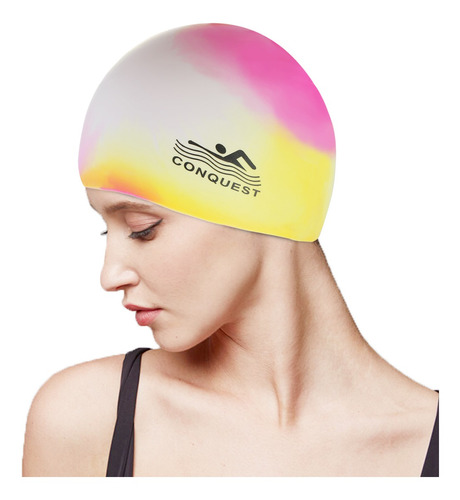 Silicone Swim Cap Moda Unisex Impermeável #1