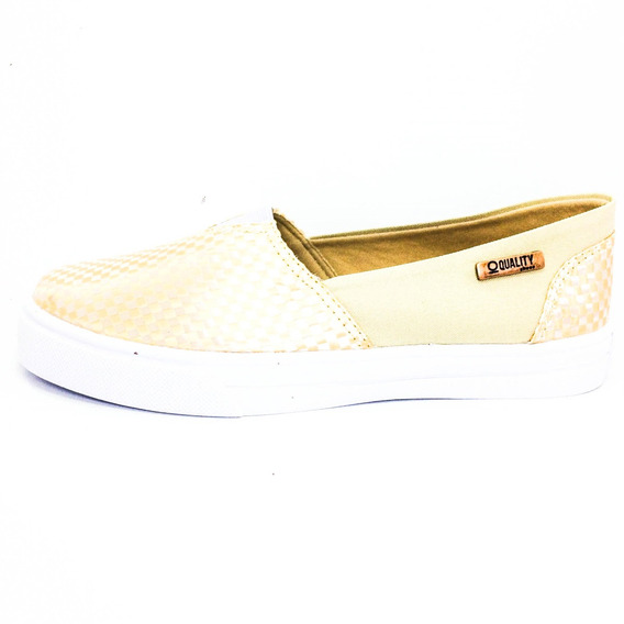 Tênis Slip On Quality Shoes Feminino 002 Trissiê Nude
