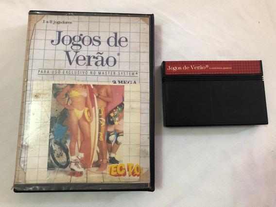Master System : Jogos De Verão Caixa E Encarte Impresso