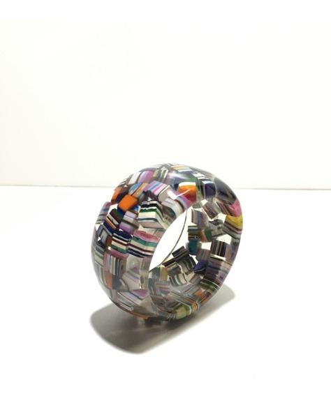 Bracelete 5cm De Largura Em Resina De Poliéster