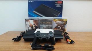 Play Station 3 Super Slim + 3 Juegos + 1 Joystick