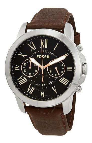 Relógio Couro Marrom Fossil Fs4813p Cronógrafo