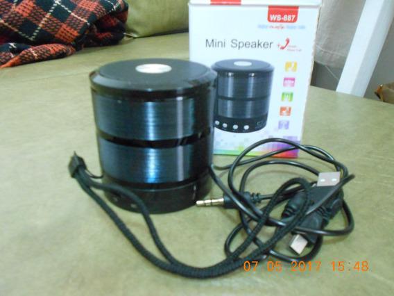 Mini Caixa De Som - Ws-887 - Portátil