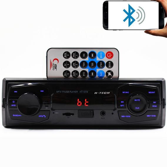 Rádio Som Carro Mp3 Usb Cartão Memória Fm Auxiliar Frontal