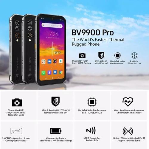 Imagen 1 de 9 de Blackview Bv9900 Pro 128gb Rom 8gb Ram Camara Termica Red 4g