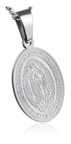 Medalla Nuestra Señora De Guadalupe - Consagrada Acero Mod 2