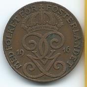 Moneda De Suecia 2 Ore 1916 (6 Largo) Muy Recomendable