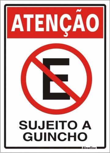 Placa Garagem Portao Proibido Estacionar Sujeito A Guincho