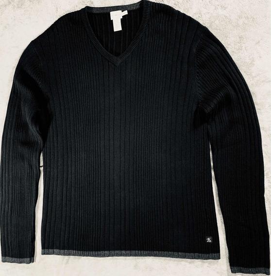 Sweater Caballero Calvin Klein Negro X L Envío + Meses