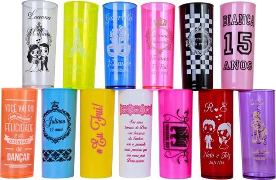 100 Copos Long Drink - 330ml -personalizados(cor Única Silk)