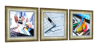 Quadro Decorativo Contabilidade Economia Escritório Recepção
