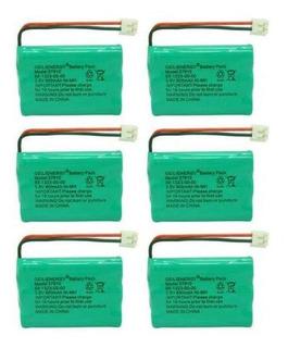 6 Batteries - 3.6v800mah Batería De Nimh Teléfono Inalá-2129