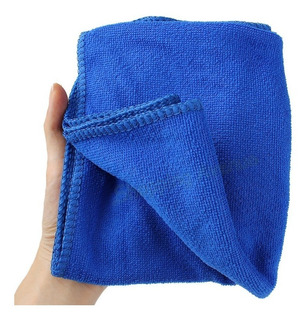 Toalla Trapo Paño De Micro Fibra 40.64 X 40.64 Cm Color Azul