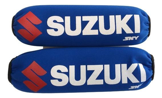 Funda Cubre Amortiguadores Neoprene C/cierre Suzuki Azul Sny