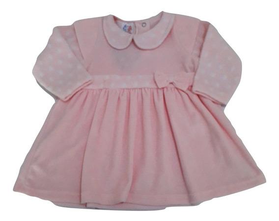 Vestido Bebe Plush Com Laço - Ref 12509