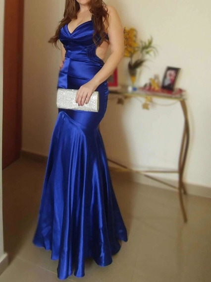Vestido Festa Formatura Zibeline Azul Royal