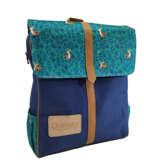 Mochila Retro Bosque Azul Dorothy