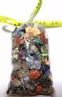 Saco 500g Pedras Brasileiras Mistas Minerais Naturais 1-2cm