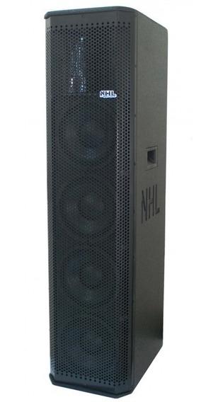 Caixa Line Array Ativa Nhl 4x8 1000w Amplificada Médio Agudo