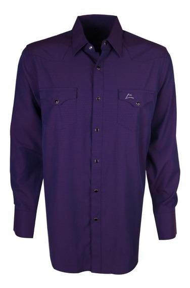 Camisa Vaquera Icy Denver Chh030 Violeta Obscuro