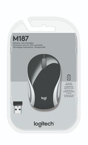 Logitech Mouse M187 Wireless Mini Mouse Refresh Black