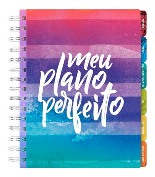 Meu Plano Perfeito | 2020 | Capa Colorida Aquarela