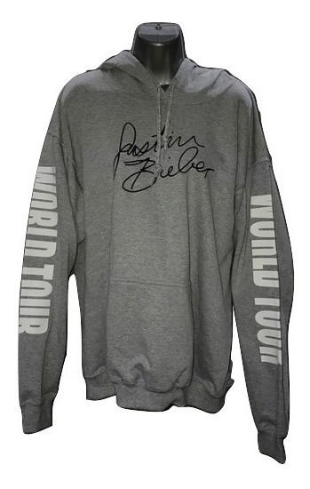 Sudadera Gris Purpose Tour Justin Bieber Hoddie World Tour