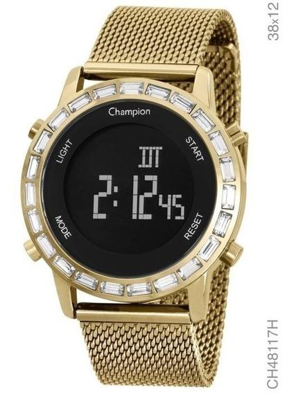 Relógio Champion Digital Feminino Bisel C/ Strás O Mais Lind