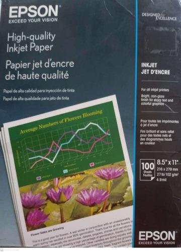 Papel Epson Carta Mate 100hjs Highquality Calidad Fotográfic