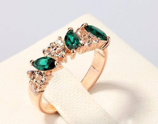 Anel De Formatura - Pedra Na Cor Verde E Azul